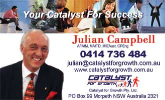 Julian Campbell's business card front